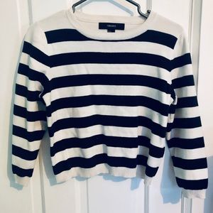 [FOREVER 21] Stripped Cropped Sweater